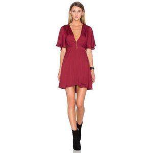 House of Harlow 1960 Harper Wrap Dress Burgundy XS